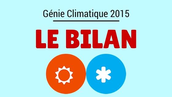 Bilan du génie climatique en 2015 [infographie]
