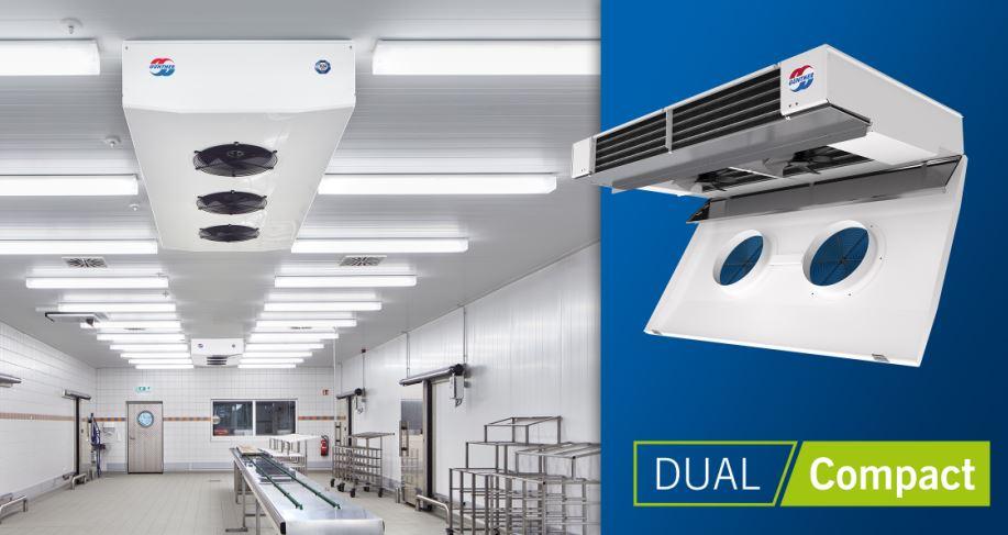 Güntner lance son refroidisseur d'air DUAL Compact sans conduite d'eau de condensation