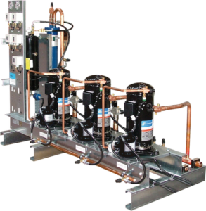 Centrale de compression à pistons semi-hermétiques et scroll Friga-Bohn COMPACT