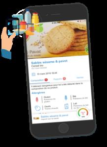 Application de scan produits alimentaires